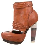 Rodarte Cutout Platform Ankle Boots
