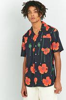 Soulland Black Flower Print Shirt