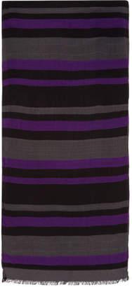 Paul Smith Purple and Grey Stripe Scarf