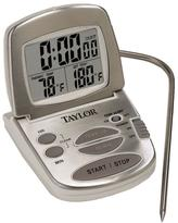 Taylor Gourmet Digital Silver LCD Food Thermometer with Timer