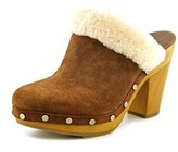UGG Adele Women Round Toe Suede Brown Mules.