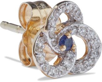 Adina Reyter 14-karat Gold, Diamond And Sapphire Earrings