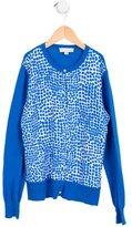 Stella McCartney Girls' Silk-Paneled printed Cardigan