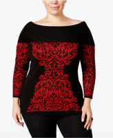 INC International Concepts Plus Size Jacquard Tunic, Only at Macy's