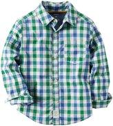 Carter's Plaid Button Down Shirt (Toddler/Kid) - Plaid - 4T