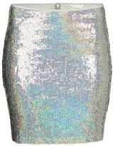 H&M Sequined Skirt - Silver-colored - Ladies