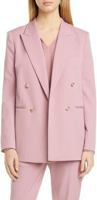 HUGO BOSS Jericoa Double Breasted Wool Blend Suit Jacket