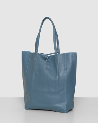 Bee Women's Blue Leather bags - The Monica Shopper Azure - Size One Size at The Iconic