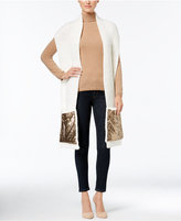 INC International Concepts Knit Sequined Pocket Scarf, Only at Macy's