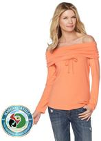 Margaritaville Off-Shoulder Drawstring Cowl-Neck Top