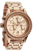 Nixon Women's A404897 38-20 Stainless Steel Rose Gold-Tone Chronograph Watch