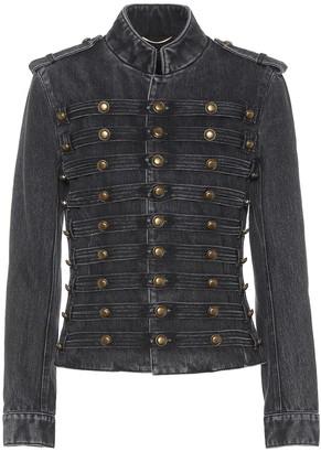 Saint Laurent Embellished denim jacket