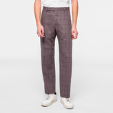 Paul Smith A Suit To Travel In - Classic-Fit Mauve Windowpane Check Trousers