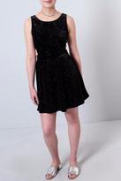 Everly Glitter Velvet Dress