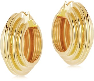 Missoma Lucy Williams Large Chunky Ridge Hoop Earrings