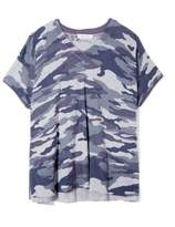Two By Vince Camuto Camo-print Short-sleeve Sweater