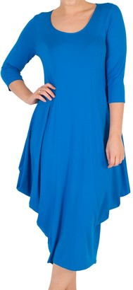 Chesca Princess Seam Jersey Dress, Azure