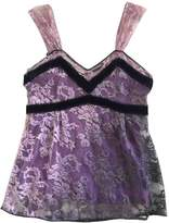 Christian Dior Purple Lace Top for Women Vintage