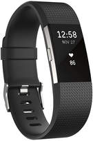 Fitbit Charge 2 Heart Rate + Fitness Wristband (Black/Silver) - Small