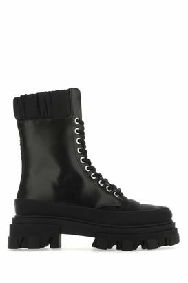Ganni Lace-Up Combat Boots