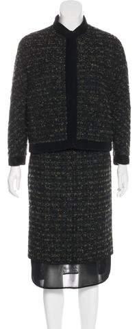 Giambattista Valli Tweed Skirt Set
