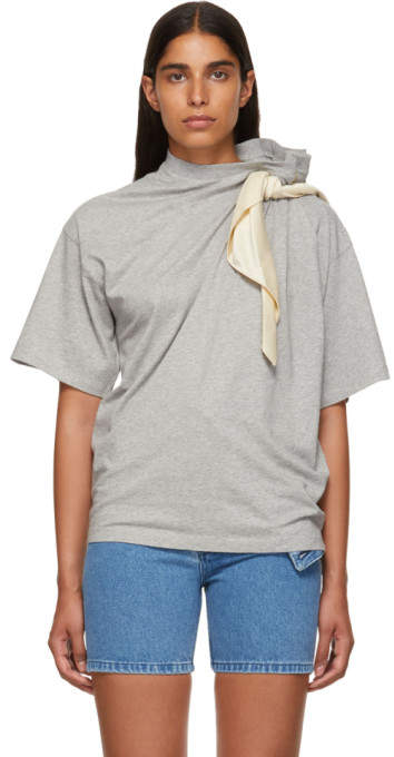 Y/Project Grey Scarf T-Shirt