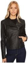 Andrew Marc Felix 19 Feather Leather Jacket Women's Coat