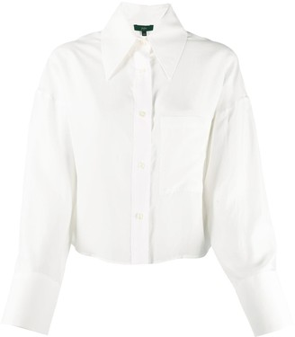Jejia Silk Pointed Collar Shirt