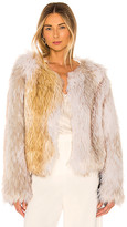 The Jetset Diaries Love Test Faux Fur Coat