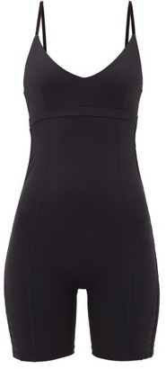 The Upside Velvet-trim Technical-jersey All-in-one - Womens - Black