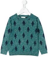 Simple rocket intarsia jumper - kids - Cotton/Linen/Flax/Viscose - 2 yrs