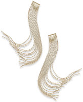 Thalia Sodi Gold-Tone Multi-Strand Fringe Drop Earrings, Only at Macy's