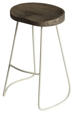 """Laurel Foundry Modern Farmhouse Ophrise 24"""" Bar Stool Color: White"""
