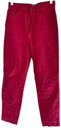 Moschino Cheap & Chic Moschino Cheap And Chic Red Cotton Trousers for Women Vintage