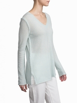 White + Warren Cashmere Fringe Edge Tunic