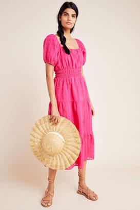 Anthropologie Francesca Tiered Midi Dress