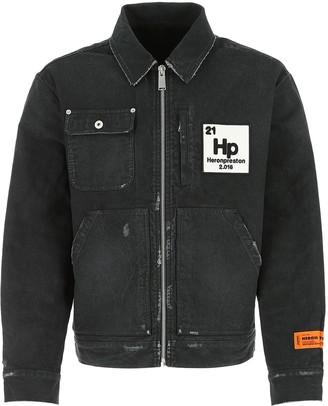 Heron Preston Logo Patch Zipped Worker Jacket