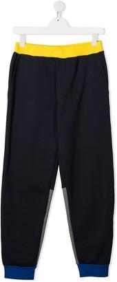 Marni TEEN colour-block track trousers