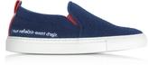 Joshua Sanders Blue Paris Slip On Women's Sneakers