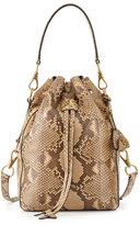 Ralph Lauren Small Ricky Python Bucket Bag, Tan