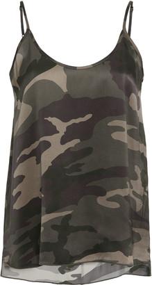 ATM Anthony Thomas Melillo Camouflage Silk Camisole