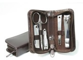 Royce Leather Royce Executive Chrome Plated Mini Manicure Kit in Leather