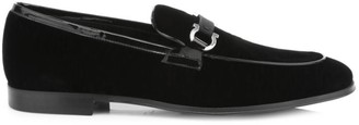Salvatore Ferragamo Seral Formal Slip-On Velvet Loafers