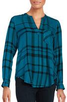 Calvin Klein Long Sleeve Plaid Top