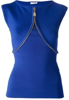 Versace sleeveless zipped tank