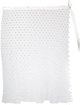 La Reveche Izar sheer mini skirt
