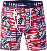 JINSHI Men's 3 Pack Comfort Bamboo Underwear Long Leg Stretch Boxer Briefs Size 3XL