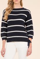 Luisa Spagnoli Side Tie Pullover Top