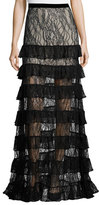 Alexis Vicky Tiered Lace Maxi Skirt, Black