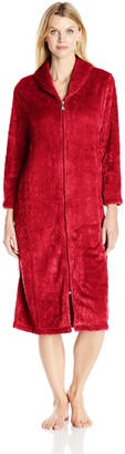 Karen Neuburger Women's Plus Size Plush Soft Warm Fleece Bathrobe Robe Pajama Pj